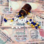 Jan Aushadhi illustration - affordable, generic medicines concept. Medical debt illustration.