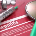 Viral Hepatitis. Medical Concept on Red Background. Image ID: 46378266 (L)