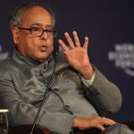 NEW DELHI/INDIA, 10NOV09 - Minister of Finance Pranab Mukherjee in the Plenary Session Post-Crisis Economic Order: How Can Free Market and control be Balanced? Participants captured during the World Economic Forum's India Economic Summit 2009 held in New Delhi, 8-10 November 2009.